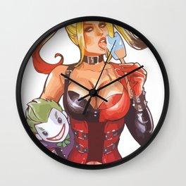 Harley Quinn yummy ice cream Wall Clock
