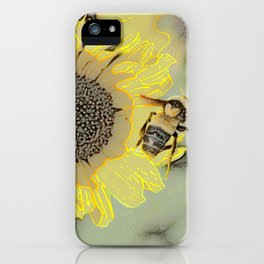 Buzzing the Sunflowers iPhone Case