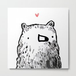 Bear Love Metal Print