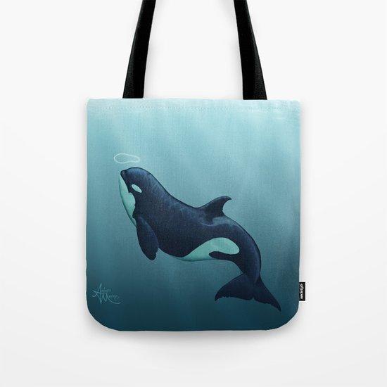 Subantarctic ~ Type D Orca, Art by Amber Marine Tote Bag