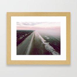 Morning waves Framed Art Print