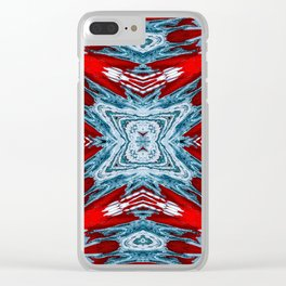 Seamless Kaleidoscope Colorful Pattern XXXV Clear iPhone Case