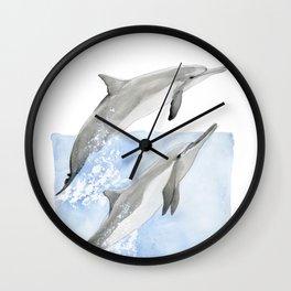 Dolphin Duo Wall Clock