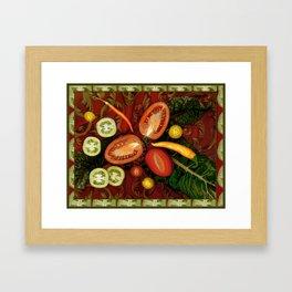 Tomatoes and Chard Framed Art Print