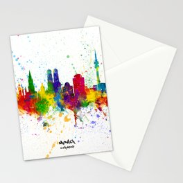 Munich Germany Skyline Stationery Cards