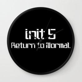 init 5 (white) Wall Clock