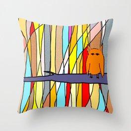 meditation animal Throw Pillow