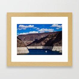 Hoover Dam  V/ Lake Mead Framed Art Print