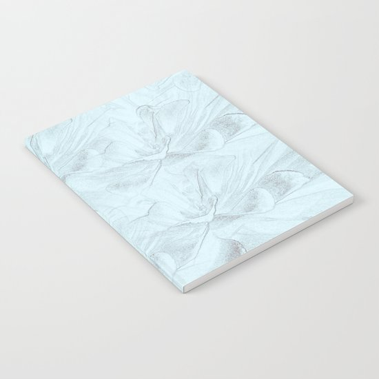 Delicate Mint Green Floral Abstract Notebook