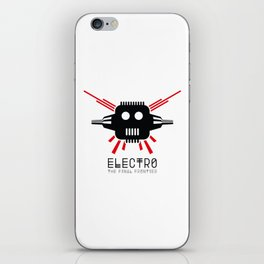 Electro - The Final Frontier - for light backgrounds only iPhone Skin