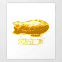 Bread Zeppelin Art Print