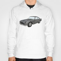 james bond Hoodies featuring James Bond Aston Martin DB5 by Dany Delarbre