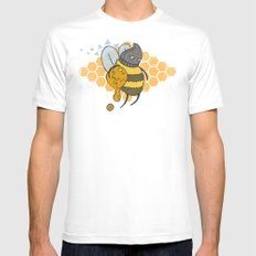 Bee Thief MEDIUM White Mens Fitted Tee