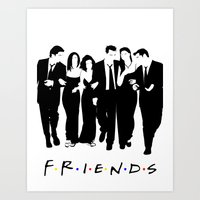 friends tv Art Prints featuring Friends by FjwDesigns
