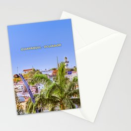 Santa Ana Hill, Guayaquil Poster Print Stationery Cards