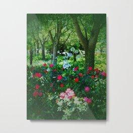 Natural Shady Picnic Garden  Metal Print