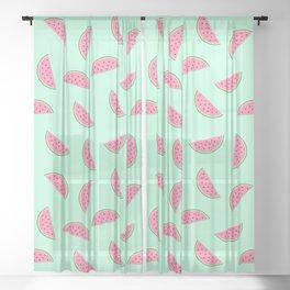 Seamless Watermelon Pattern Sheer Curtain