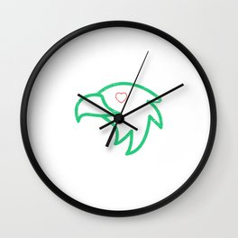 Eye Love Philly Football Wall Clock