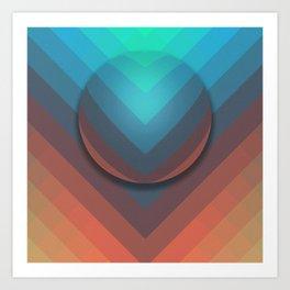 Surface To Swim Art Print