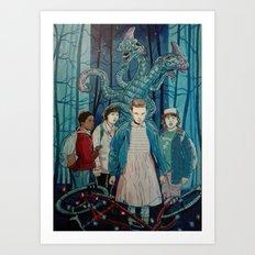 Stranger Things artwork painting Art Print