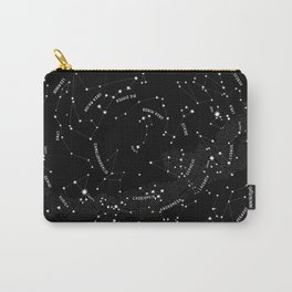 Constellation Map - Black Carry-All Pouch