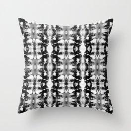 Tie-Dye Blacks & Whites Throw Pillow