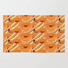 Hot Dogs and Donuts Rug