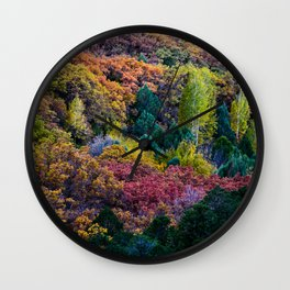 Fall Colors ~ La Sal Mountains, Utah Wall Clock