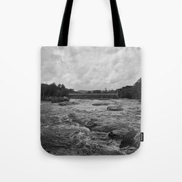 Looking Downriver Tote Bag