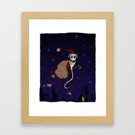 Midnight in Halloween Town Framed Art Print