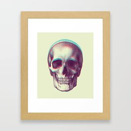 duotone vintage skull Framed Art Print