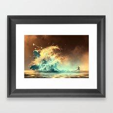 Mana tide Framed Art Print