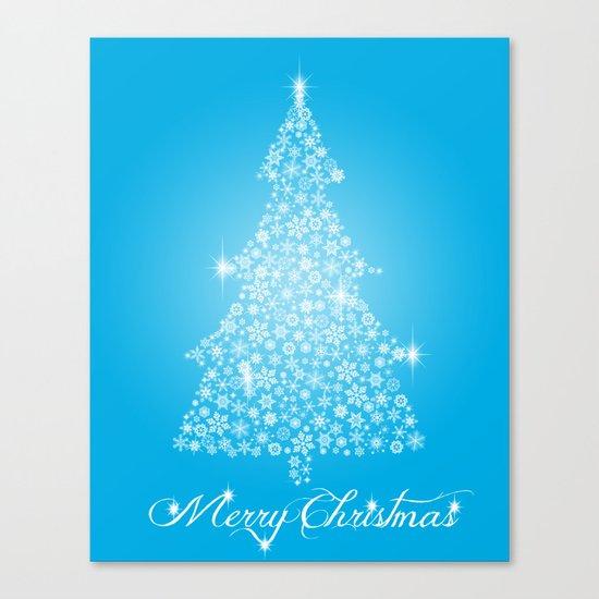 Snowflake Christmas tree Canvas Print