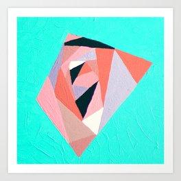 Geometric Rose Art Print