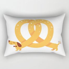 Pretzel Dog Rectangular Pillow