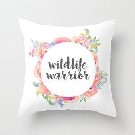 Wildlife Warrior Throw Pillow