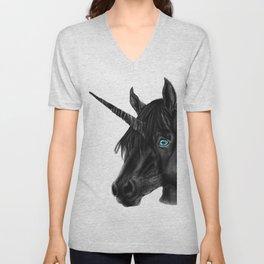 Black Unicorn Unisex V-Neck