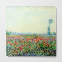 "Claude Monet ""Poppy Field"", 1881 Metal Print"