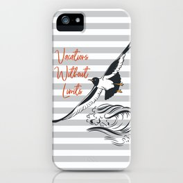 Sea adventure. Vacations without limits iPhone Case