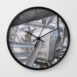 The Mnemoplex - nano carbone cristal based city Wall Clock