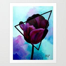 Dark Tulip Art Print