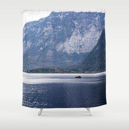 Hallstatt lake Shower Curtain