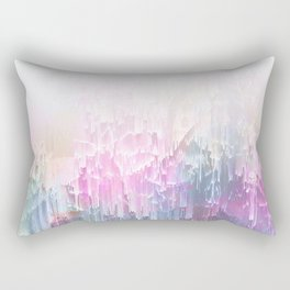 Magical Nature - Glitch Pink & Blue Rectangular Pillow