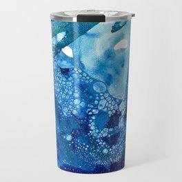 Environmental Blue Leaves, Tiny World Collection Travel Mug