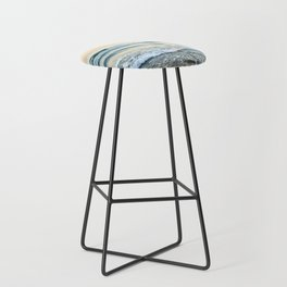 Serenity sea. Vintage. Square format Bar Stool