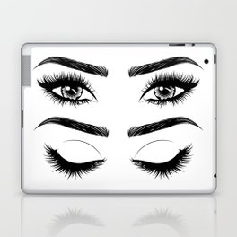 Eyes with long eyelashes and brows Laptop & iPad Skin