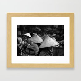 Conical Hats Framed Art Print