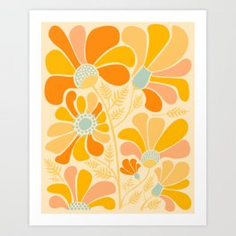 Sunny Flowers / Floral Illustration Art Print