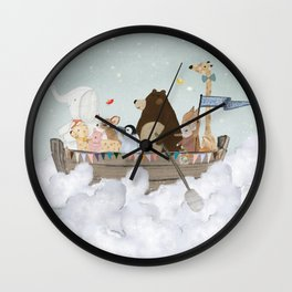 cloud sailers Wall Clock