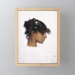 """John Singer Sargent """"Rosina Ferrara, Head of a Capri Girl"""" Framed Mini Art Print"""